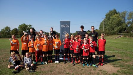 Under 10s winners Hethersett Athletic (left) took the crown, with Lakeford Rangers FC in second. Pho