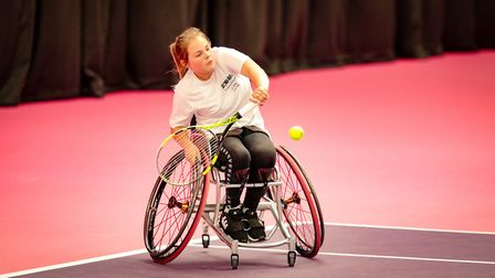 Ruby Bishop in action Picture: tennisfoundation
