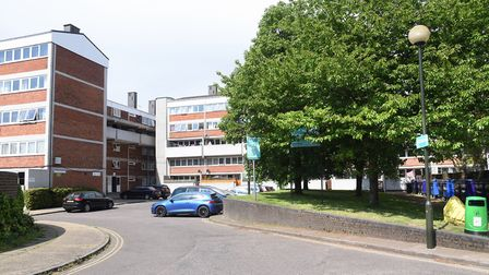 Suffolk Square, behind the shops. Picture: DENISE BRADLEY