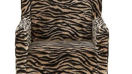 Get the look: Cavendish safari fabric accent chair: £399 reduced from £599 www.wilko.com