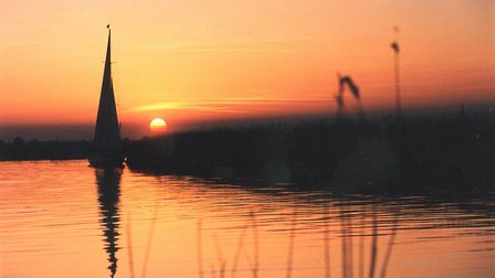 The sun sets over the River Chet. Picture: ARCHANT.