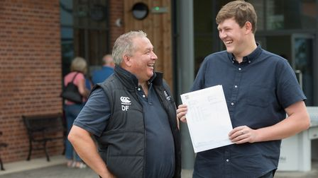 Langley School Sixth Form students collecting their A level results this morning. Oliver Neale conga