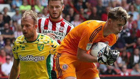 Jordan Rhodes created and finished a flowing Norwich City goal at Sheffield United Picture: Paul Che