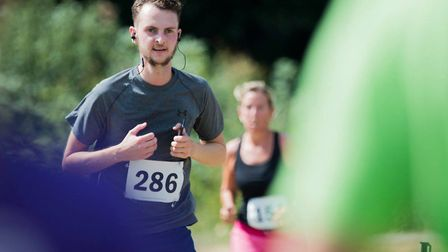 Ipswich fan Sam Cooper competing in a 10k race in Devon. PIC: Williams H Photography