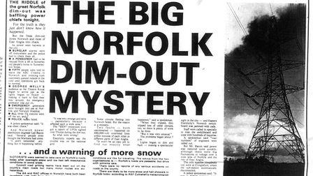 The big Norfolk dim-out mystery. Date: 29 Nov 1980. Picture: EN Library