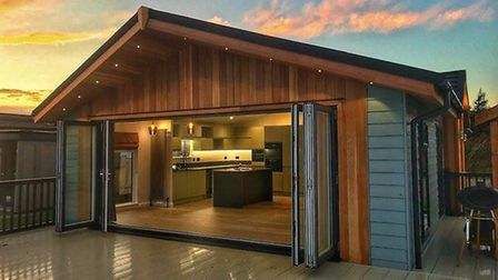 How the new luxury lodges will look, designed by Linda Barker. Pic: www.mundesleyholidayvillage.co.u