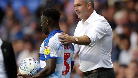 Reading boss Paul Clement with summer signing Andy Yiadom Picture: Andrew Matthews/PA