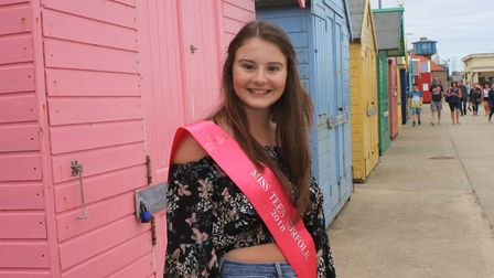 Miss Teen Norfolk Niamh Craske, who is appealing to local people to sign up for a Norwich Memory Wal