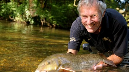 At last! After years of trying, JB gets himself that Wensum barbel he has dedicated himself toPictur