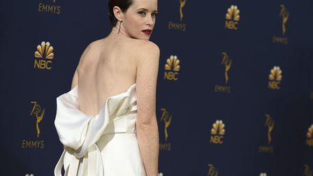 Claire Foy arrives at the 70th Primetime Emmy Awards on Monday, Sept. 17, 2018, at the Microsoft The