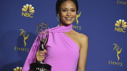 """Thandie Newton, winner of the award for outstanding supporting actress in a drama series for """"Westwo"""