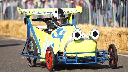 Hundreds of people lined the streets of Hunstanton to watch the Soap Box Derby last year. Picture: I