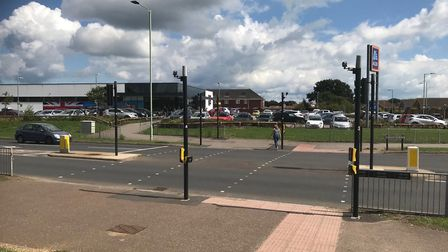 The teenager was seriously injured in Millennium Way by the Aldi storePicture: Anthony Carroll