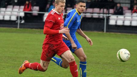 Michael Frew gave Wisbech Town the lead against Sileby Rangers Picture: IAN CARTER