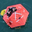 The three men rescued from the life raft Picture: Alexandra Rosen/PA Wire