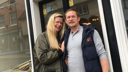 Jon and Maria Munford who are opening a pie and mash shop in Diss. Picture: Simon Parkin