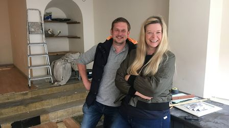 Jon and Maria Munford have begun work to transform a former tearoom into a traditional pie and mash