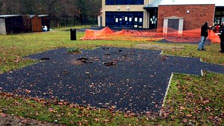 Little Plumstead Church of England Primary School had a sad area where play equipment had been remov