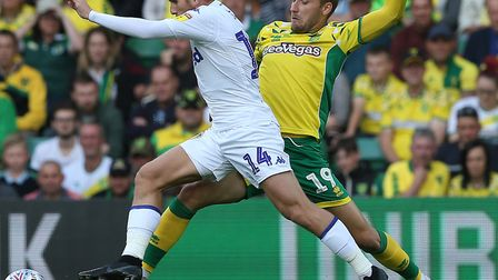 Tom Trybull endured a tough shift against Leeds at Carrow Road Picture: Paul Chesterton/Focus Images