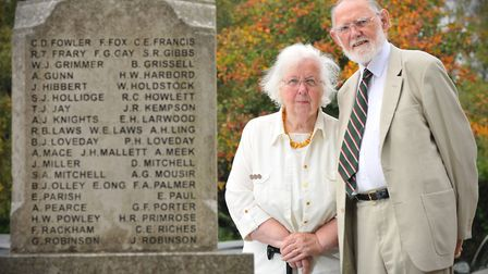 Thorpe Hamlet couple June and Jim Marriage volunteers for the national war memorials trust at their