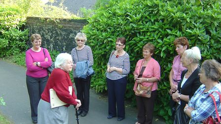 Telling the story of the Rosary Cemetery in Thorpe Hamlet to visitors. Photo: Family Albums