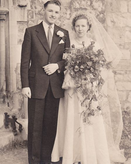 June and Jim getting married in 1955. Photo: Family Albums