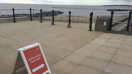 Lifeguards have been telling people to stay out of the water. Picture: Conor Matchett