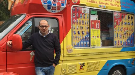 Craig Trickett, 54, with his ice cream van which he will be driving to cheshire. Picture: Craig Tric