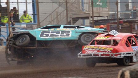 Wes Starmer rolls over the line to come home in second place in the 2L Stock Car Driver of the Year