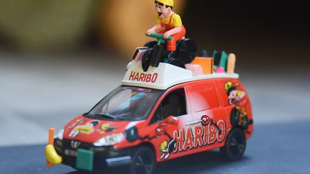 A model of one of the Tour de France sponsor's cars in Peter Martin's collection. Picture: DENISE BR