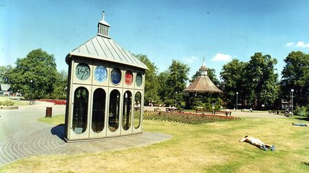 The Gurney Clock pictured in Chapelfield Gardens. Picture: Archant Library
