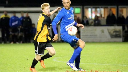 Action from Great Yarmouth Town's win at Kirkley & Pakefield Picture: STEVE WOOD