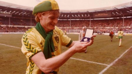 Peter Mendham with his Milk Cup medal. Picture: Archant