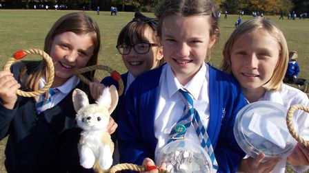 L-R: Shannon, Emily, Annabelle and Katie line up, with Lizzie involved in the fundraising as well. P