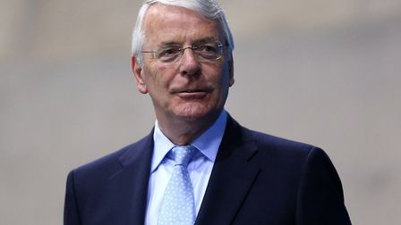 Sir John Major. Picture: Lynne Cameron/PA Wire