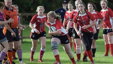 Lakenham Hewett Ladies on the front foot during their match against West Norfolk Picture: CLUB
