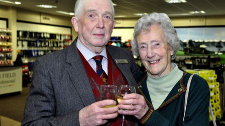 Alan Barnard and his wife Kate, pictured in 2011. Picture: Archant.