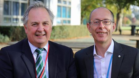 Norfolk Academy Trusts ieTrust and MNAT have unveiled proposals to merge. (Left to right) Peter Devo