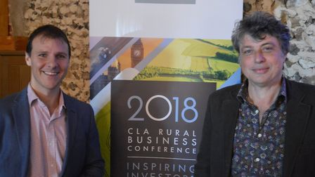 George Unwin (left) of Baythorne Hall and Tom Blofeld of BeWILDerwood at the CLA's diversification s