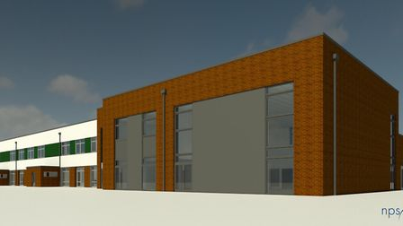 Graphic showing what the new primary school in Hethersett could look like Picture: Norse Group
