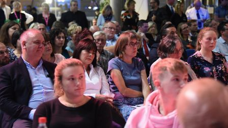 Some of the audience at the Break charity's GoGoHares auction. Picture: DENISE BRADLEY