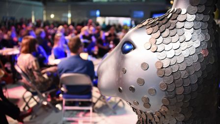 Heptahare watches over the Break charity's GoGoHares auction. Picture: DENISE BRADLEY