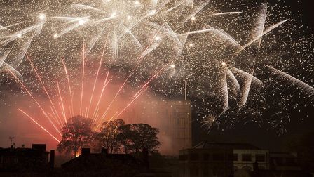 Fireworks over Norwich. Picture: Jeff Taylor