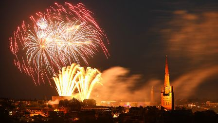 The Lord Mayor's fireworks in Norwich. Picture: Ian Burt