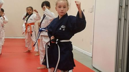 Youngster Aimee Earl . Picture: Samantha Hawes