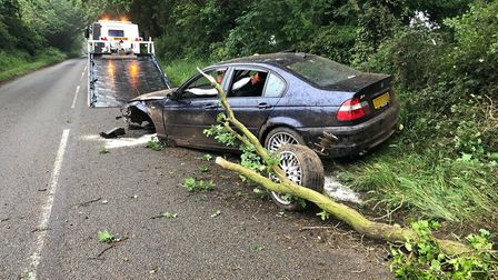 One of the crashes on Norfolk's roads. Photo: Norwich Police