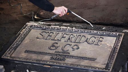 East Coast Casting, in Watton, created two new bronze signs for Selfridges department store in Londo