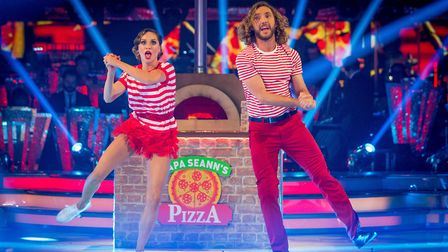 Katya Jones and Seann Walsh on Strictly Come Dancing. Photo: Guy Levy/BBC/PA Wire
