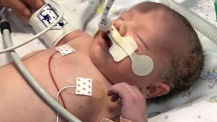 Tyler Lily Iris Manthorpe was taken to the intensive care unit at the Norfolk and Norwich University