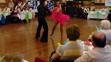 Strictly Come Dancing stars Ola and James Jordan at the town hall in Great Yarmouth in 2008, helping